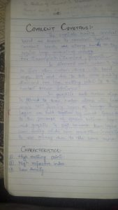 Chapter 2 States of Matter, Solids Chemistry First Year Class